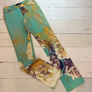 Roberto Cavalli Patterned Jeans